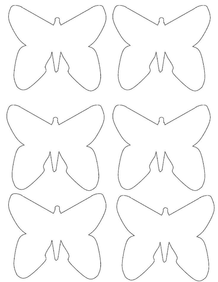 Butterfly template to print coloring home for Butterfly template free