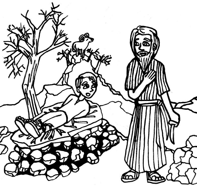 abraham sarah isaac coloring pages - photo#30
