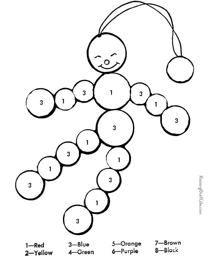 easy number coloring pages - photo#8