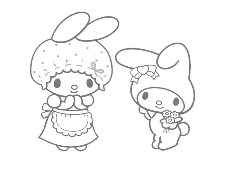 My Melody Coloring Pages | Fantasy Coloring Pages