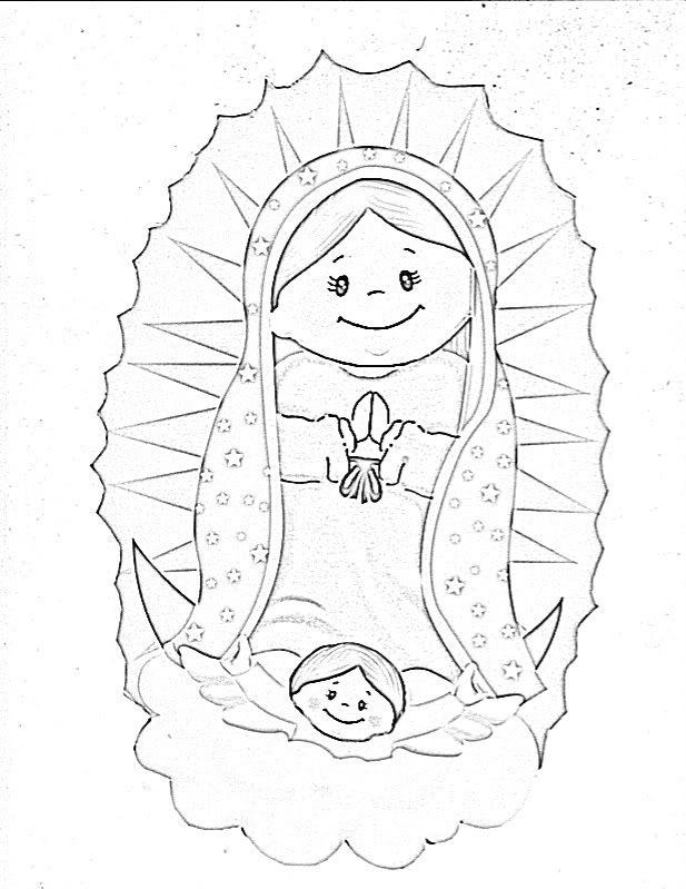 La Virgen De Guadalupe Coloring Pages Coloring Home Imagenes De La Virgen De Guadalupe Para Colorear