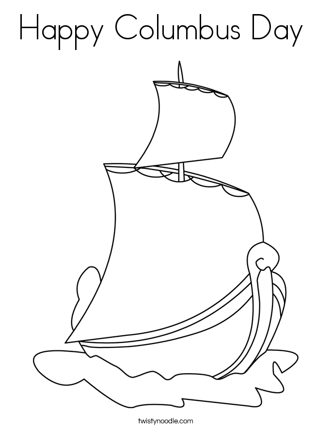 Columbus day free coloring pages for Columbus coloring page