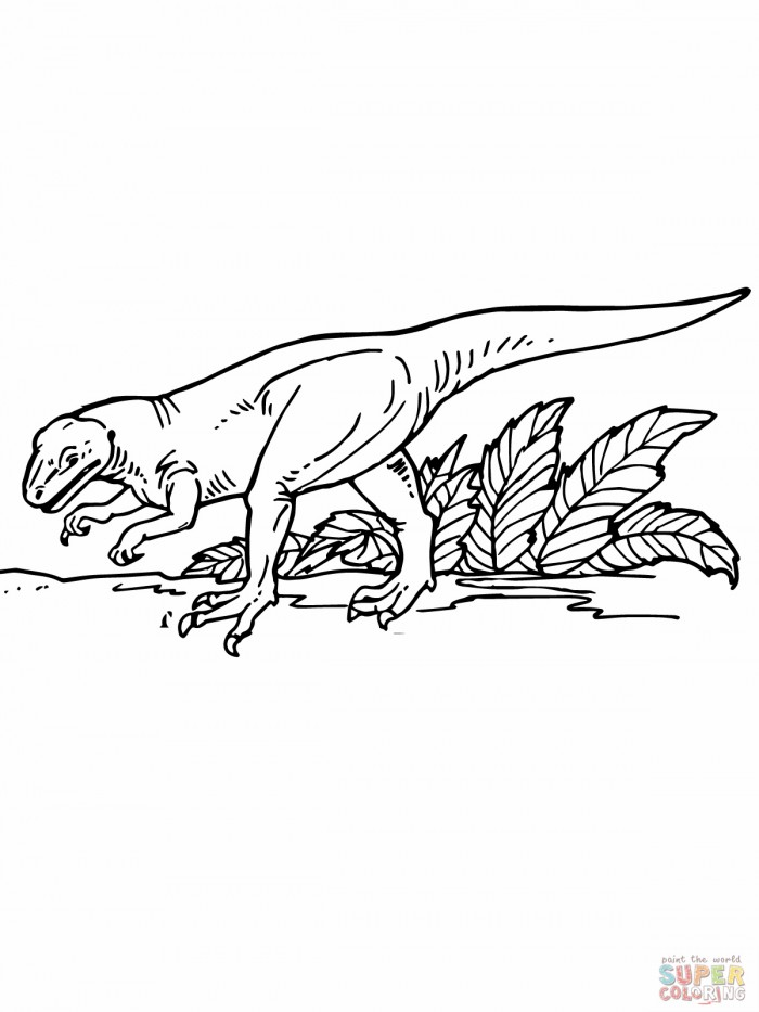 deinonychus coloring pages - photo#24