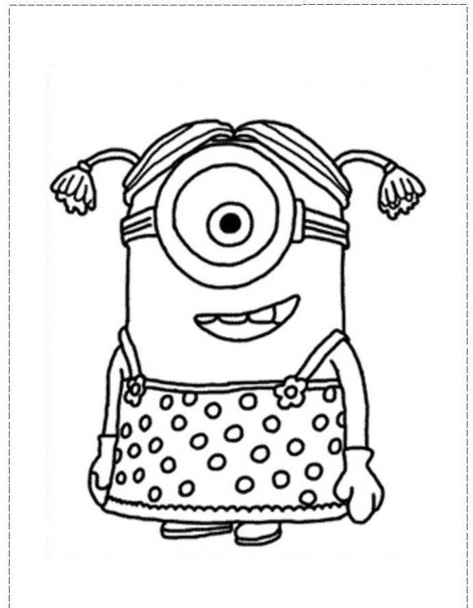 girl character despicable coloring pages despicable me coloring