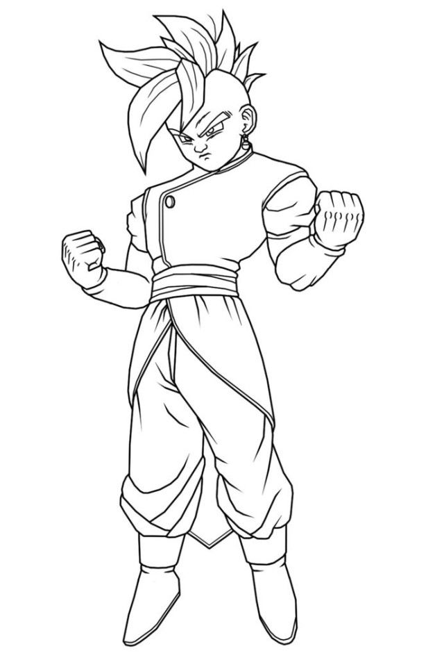 Coloring Pages Of Dragon Ball Z Characters | Download Free ...
