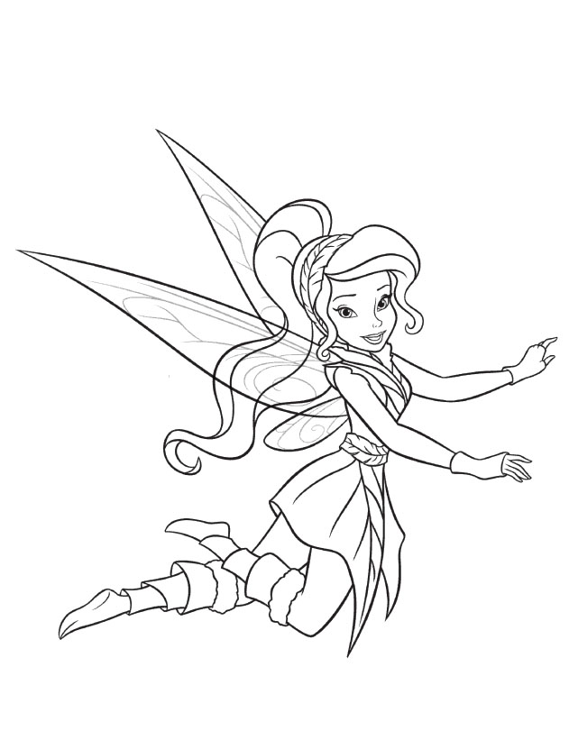 Tinker Bell And Vidia Coloring For Kids - Tinker Bell Coloring