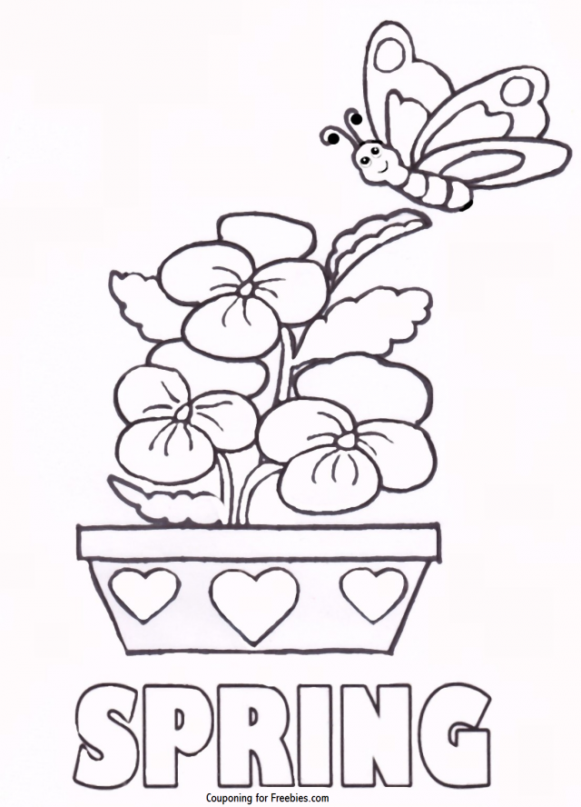 Spring Themed Coloring Pages