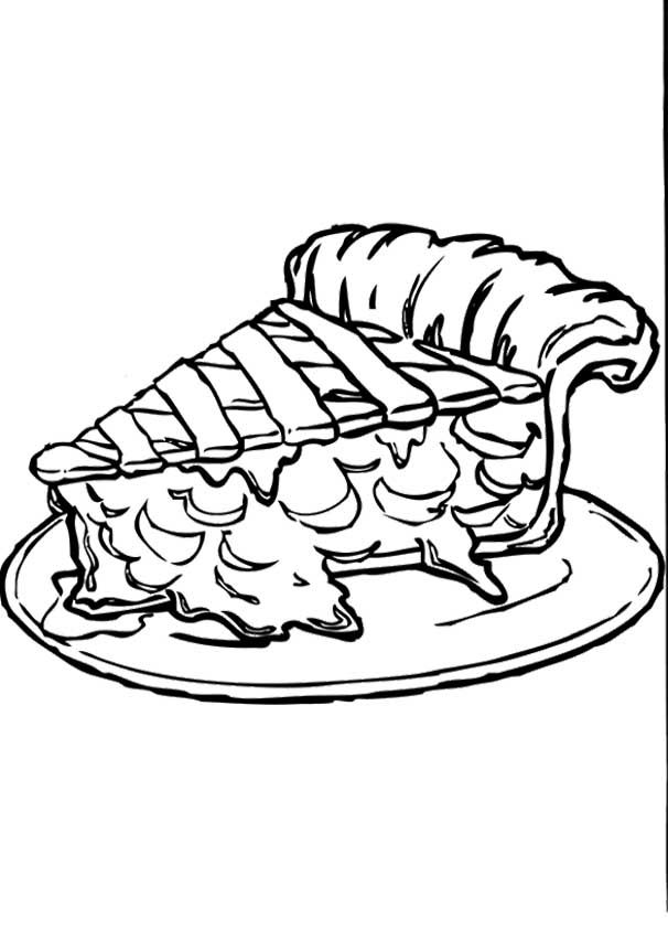 Pumpkin Pie Coloring Page Coloring Home