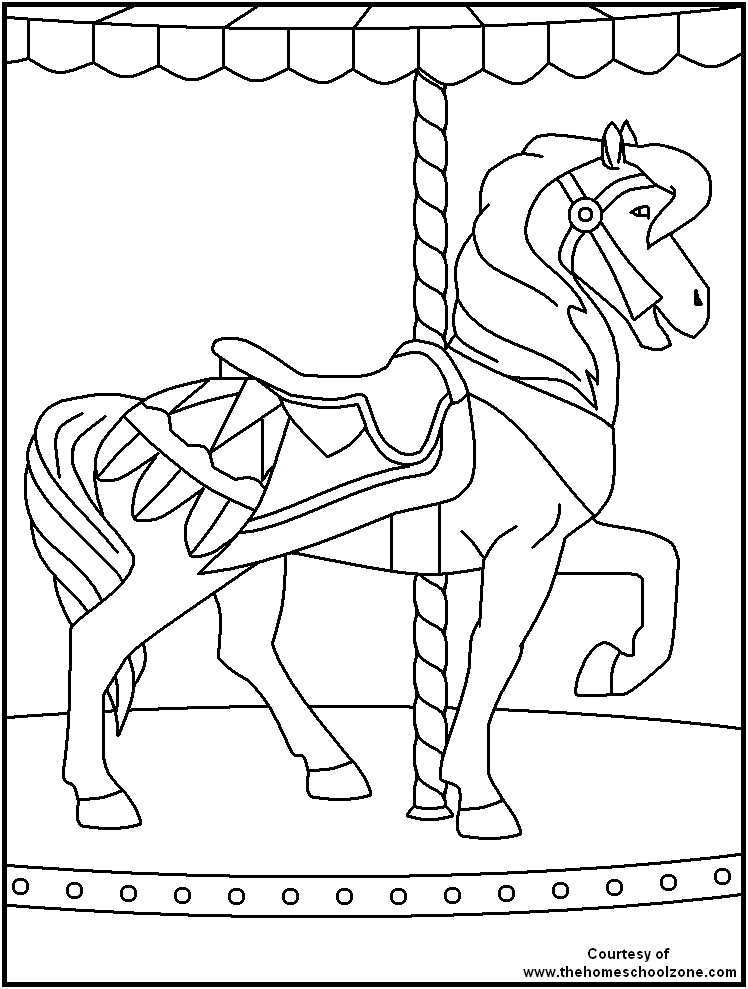 Carnival coloring page coloring home for Printable circus coloring pages