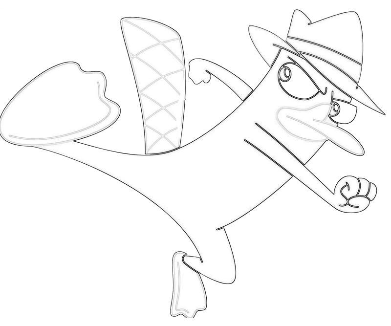 perry the platypus coloring pages - coloring pages of perry the platypus coloring home
