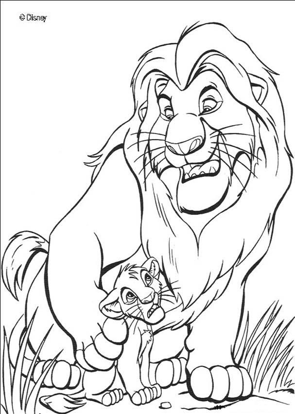 Free Printable lion king coloring pages « 1Photo Share