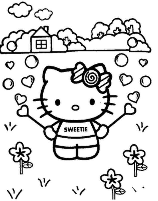 Hello Kitty Printable Face