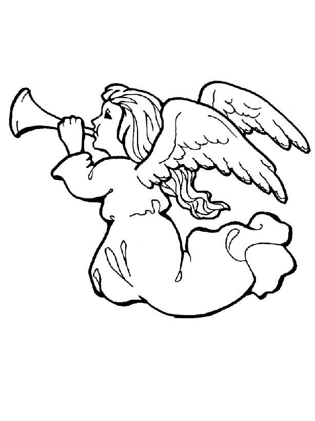 Pictures Of Angels To Color  Coloring Home