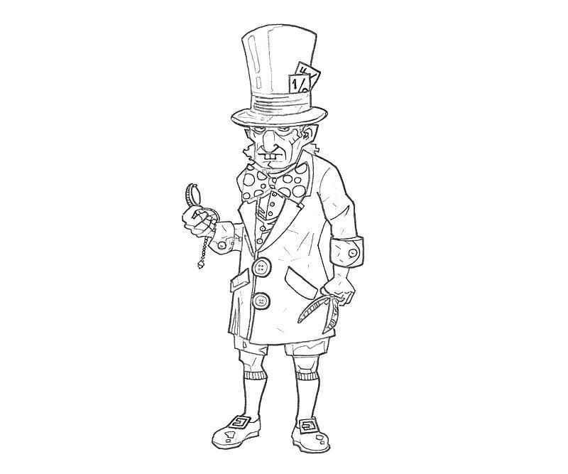 Mad Hatter Coloring Pages - Coloring Home