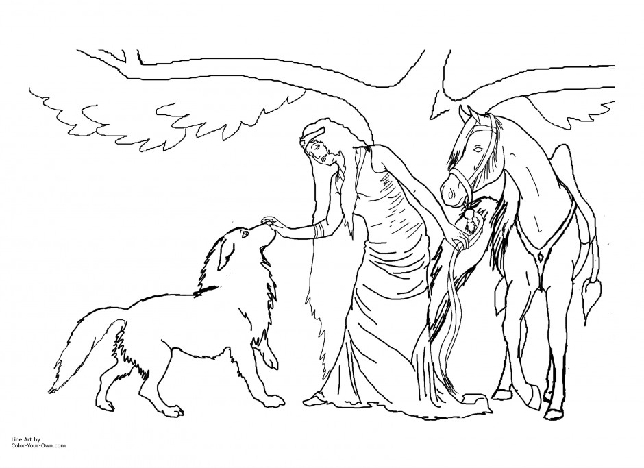 horse race coloring pages - photo#26