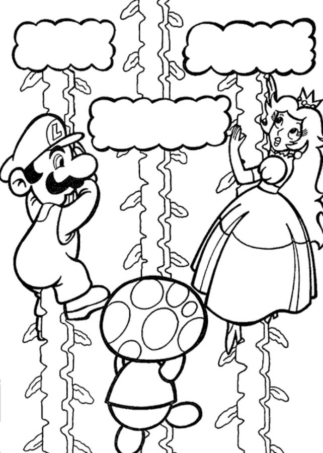 mario and luigi printable coloring pages - mario and luigi coloring pages to print coloring home