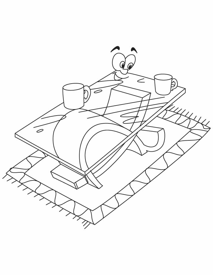 Table Coloring Pages - Coloring Home