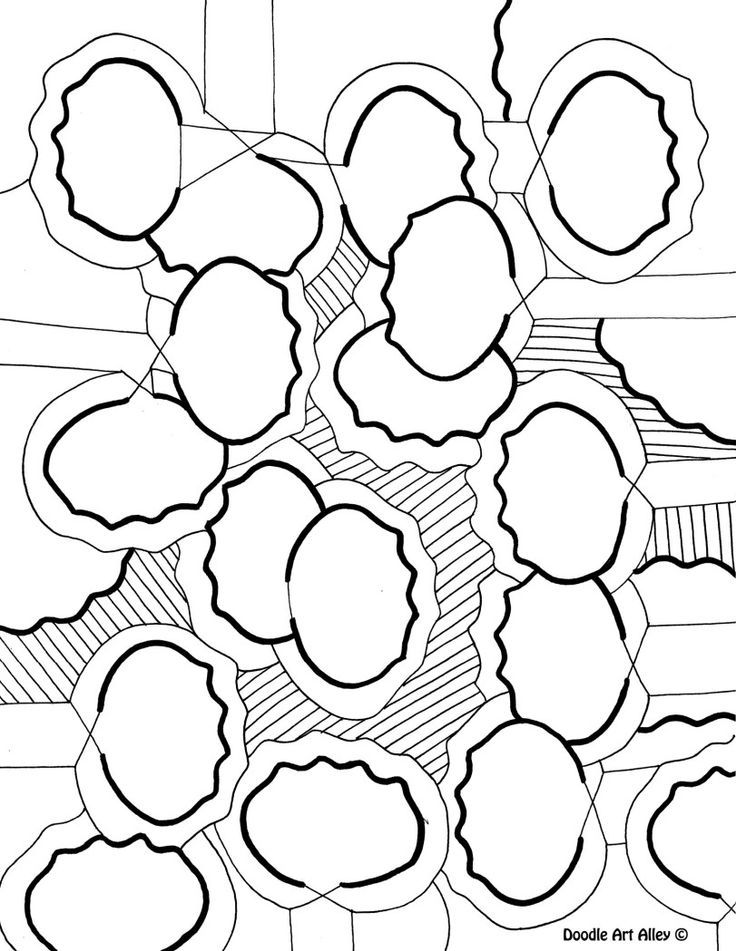 Abstract Easter Coloring Pages : Doodle art alley coloring pages az