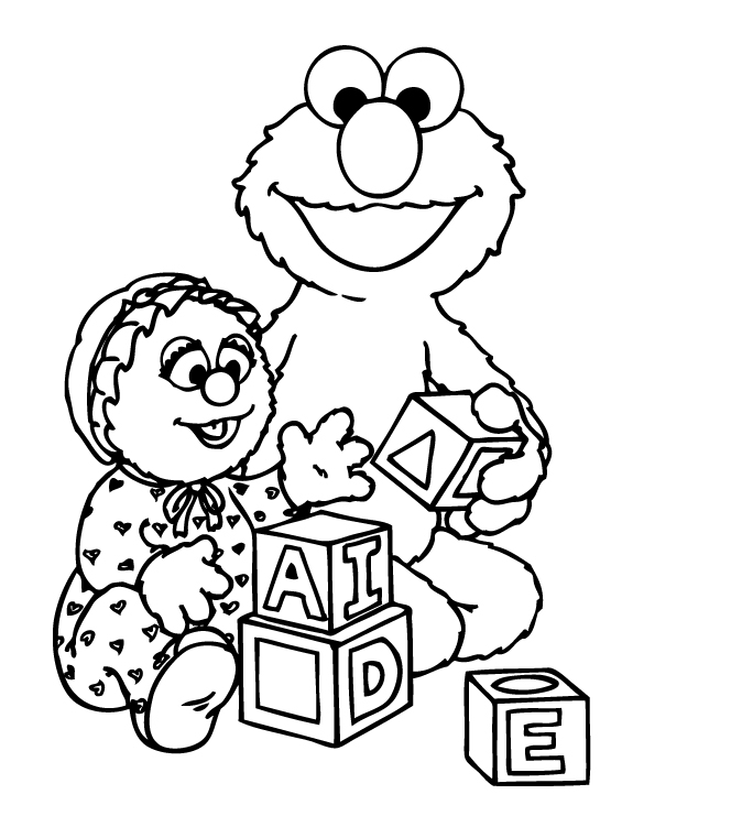 free printable elmo christmas coloring pages - elmo color page az coloring pages