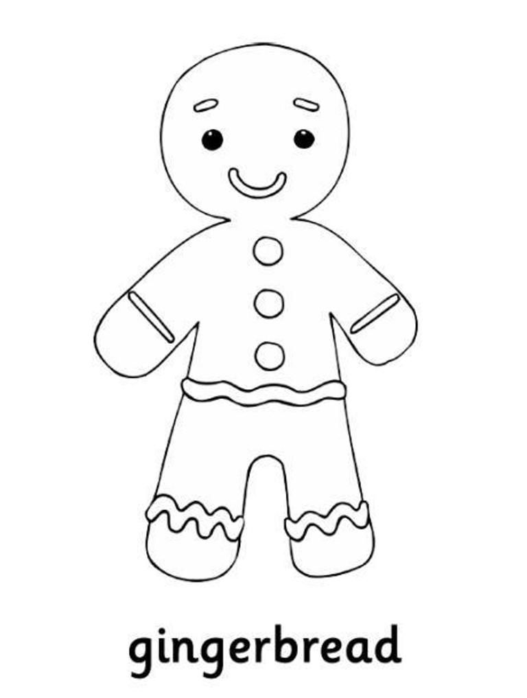Ginger Man Coloring Page