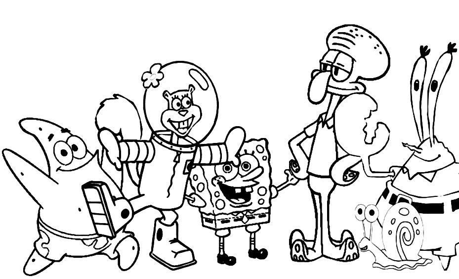 spung bob all Colouring Pages