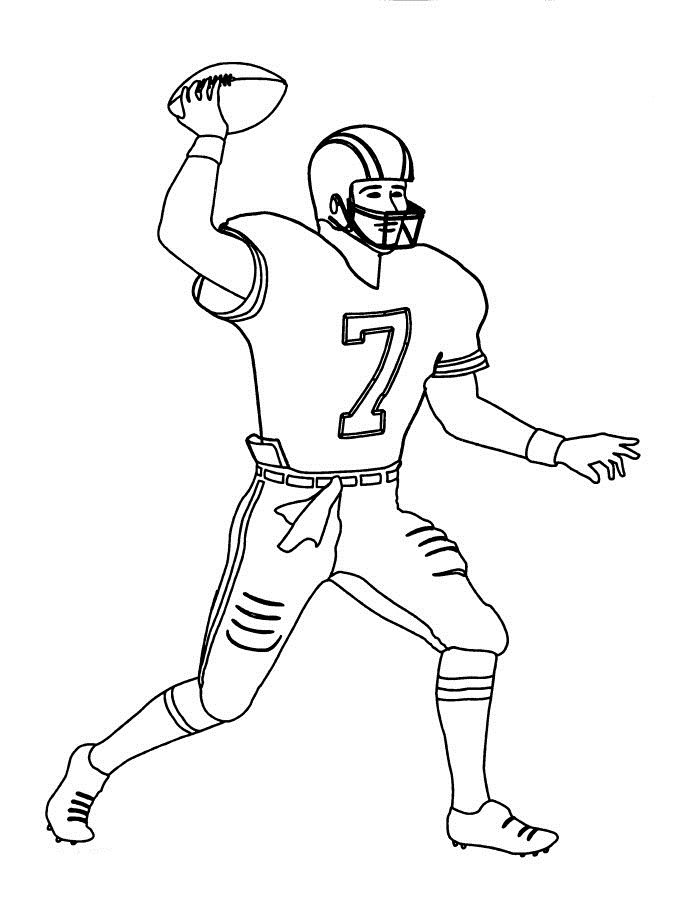 Seahawks Football Coloring Pages Cool Football Player Free