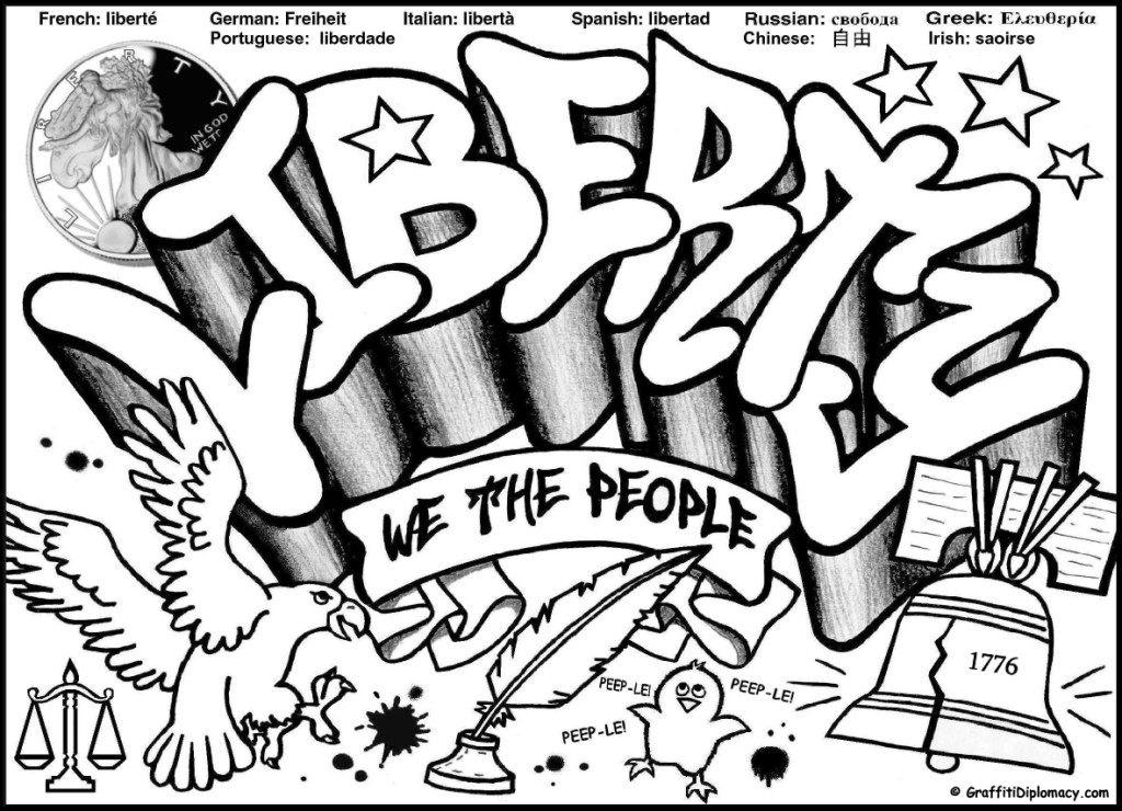 Multicultural Graffiti Art -Free Printable Coloring Pages - Free