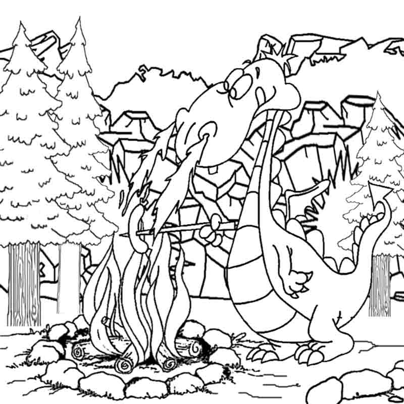 medieval dragon pictures coloring home