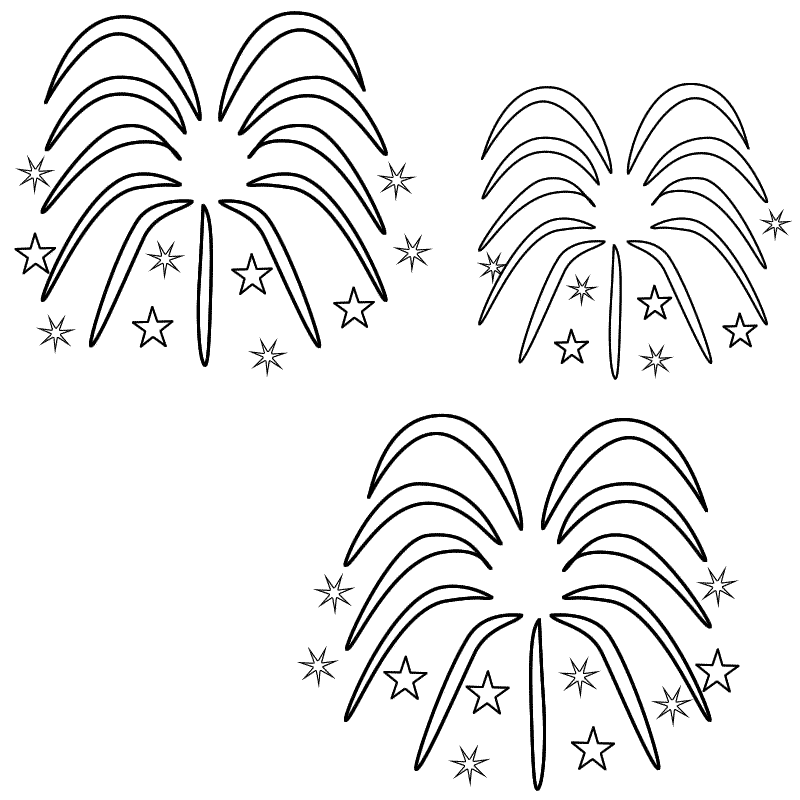 Printable Fireworks Coloring Pages