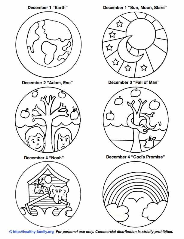 jesse tree symbols coloring pages - photo#19