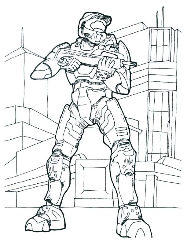 halo 4 odst Colouring Pages (page 3)