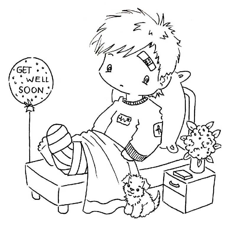 Childfree Printable Get Well Coloring Pages For Kids