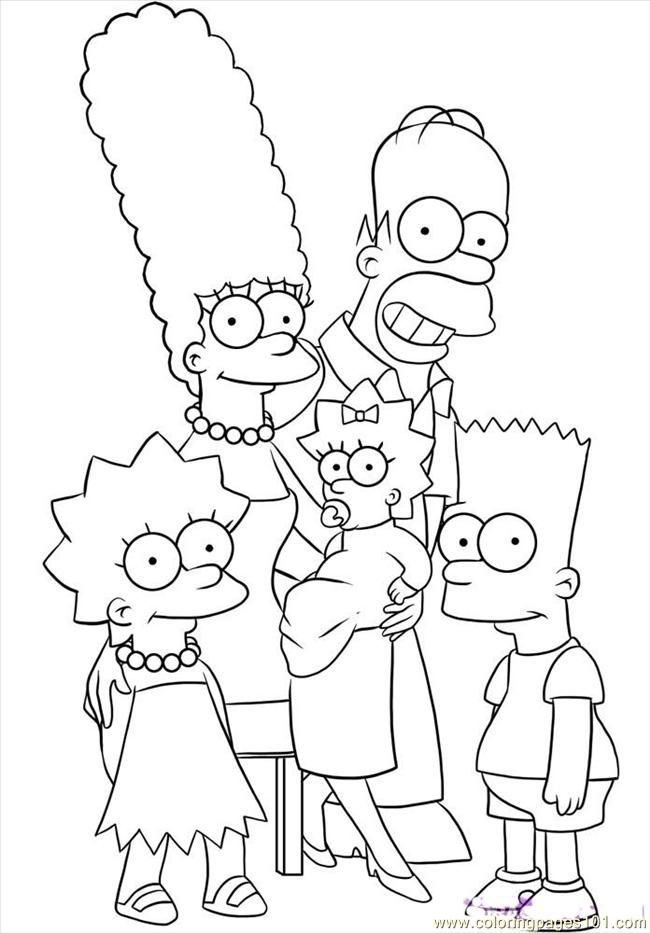 the simpsons coloring book pages - photo#5