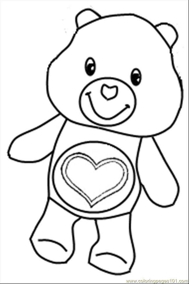 carebear coloring printable pages - photo#33