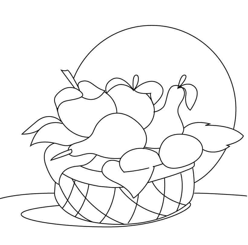 fruit baskets coloring pages - photo#20