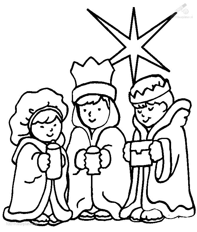 1001 COLORINGPAGES : Christmas >> Wisemen >> Three Wise Men
