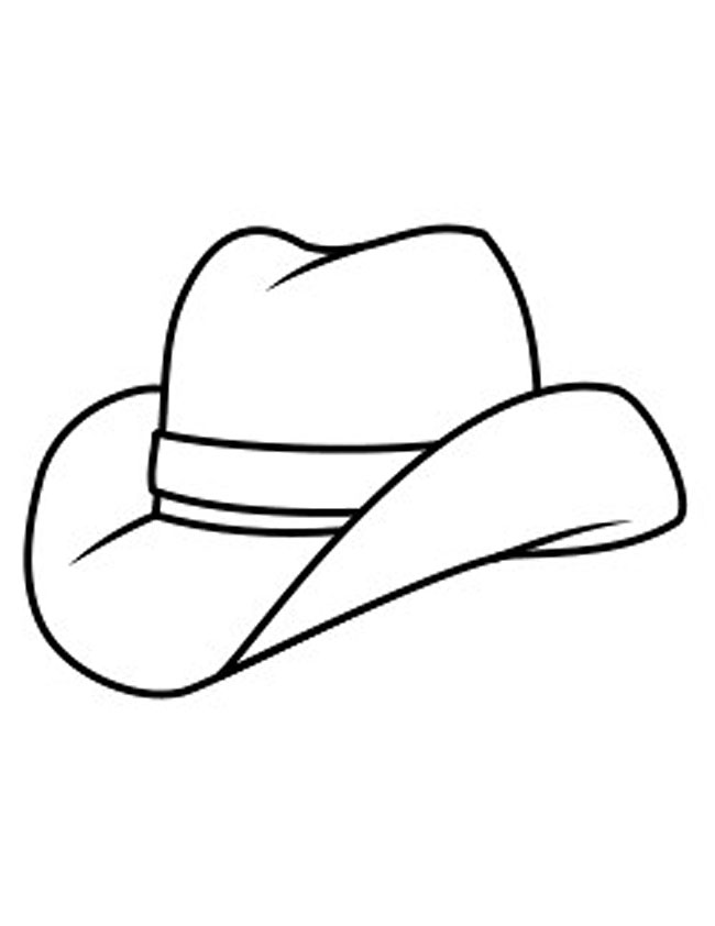 Cowgirl Hat Coloring Page