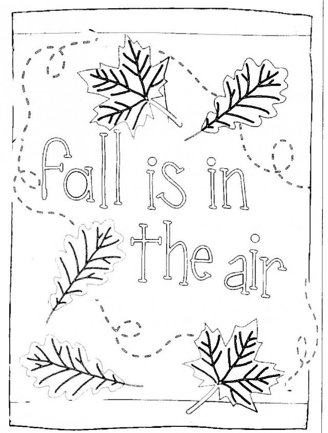 Coloring Pages For Preschoolers Fall : Preschool fall coloring pages is in the air kids