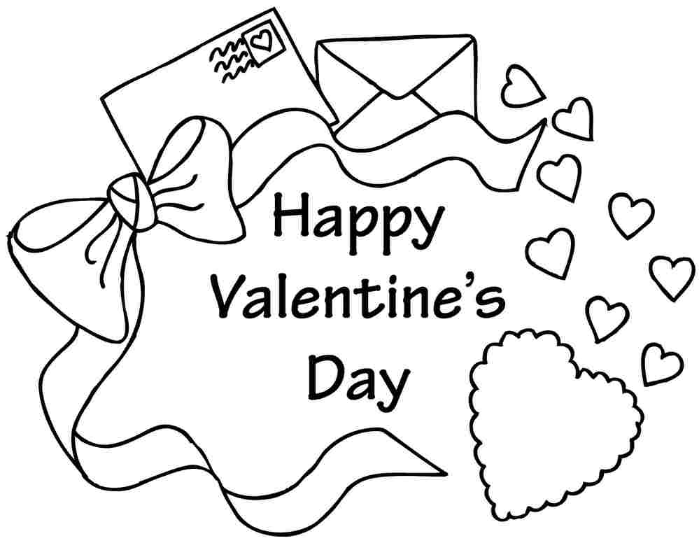 pre school valentine coloring pages - photo #24