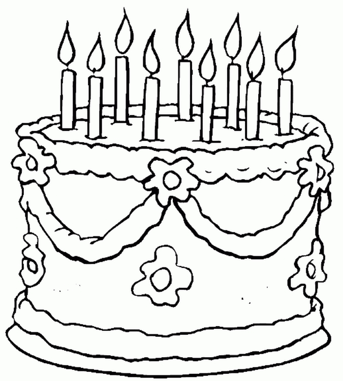 birthday coloring pages for kids - photo#10