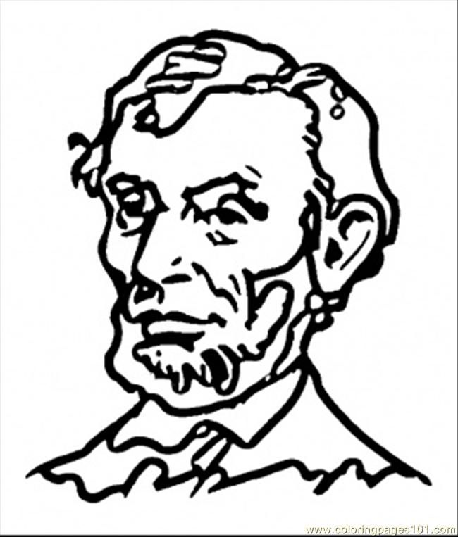 coloring pages abraham lincoln - abe lincoln coloring page coloring home