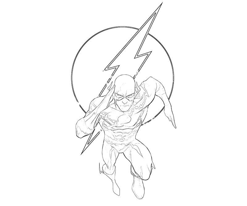 The Flash Coloring Pages - Coloring Home