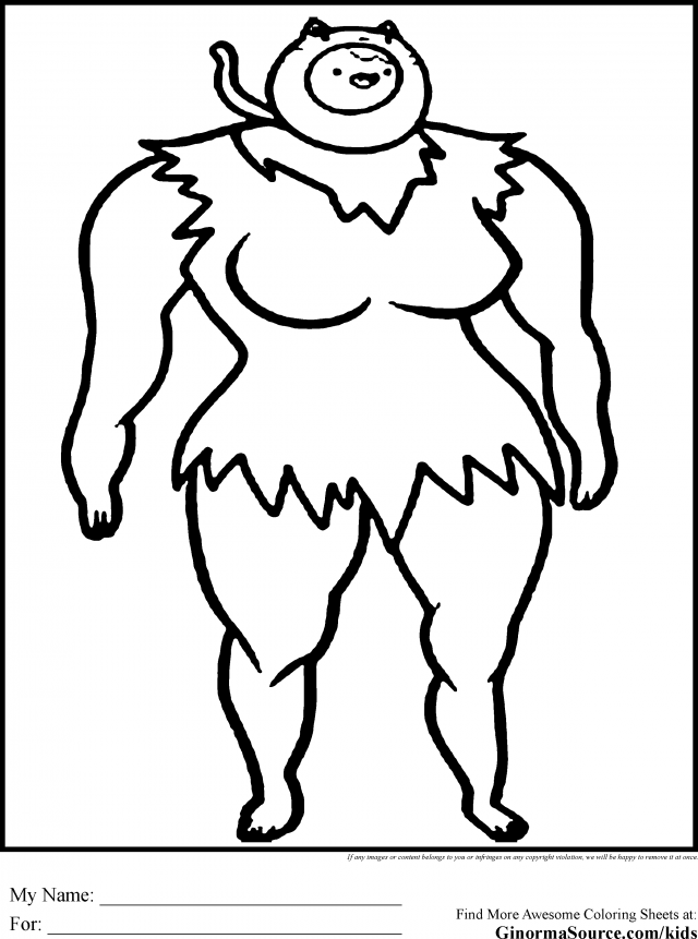 Princess Bubblegum Posing Adventure Time Coloring Page | Adventure ... | 861x640
