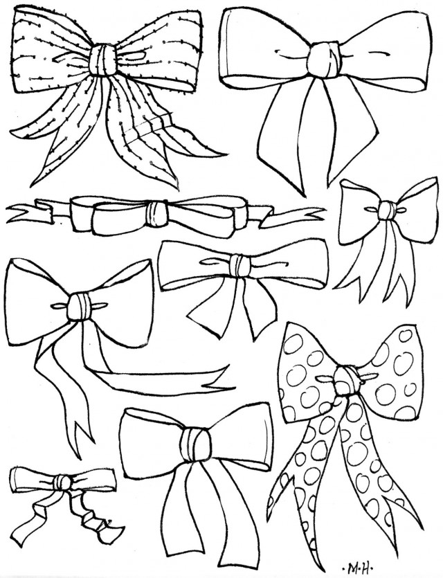 Bows Coloring Pages Az Coloring Pages Bow Coloring Page