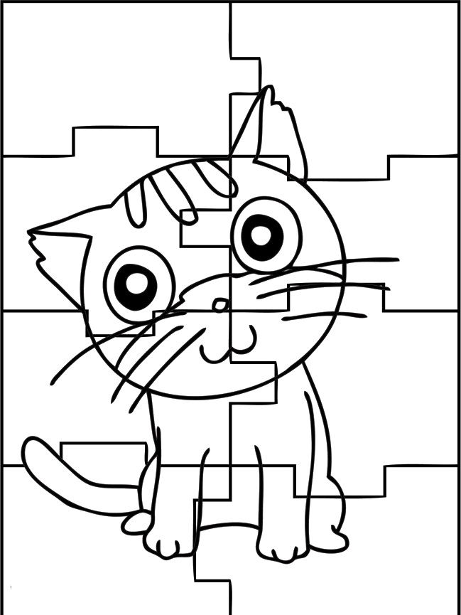 Kids Coloring Pages Puzzles Az Coloring Pages Puzzle Coloring Page