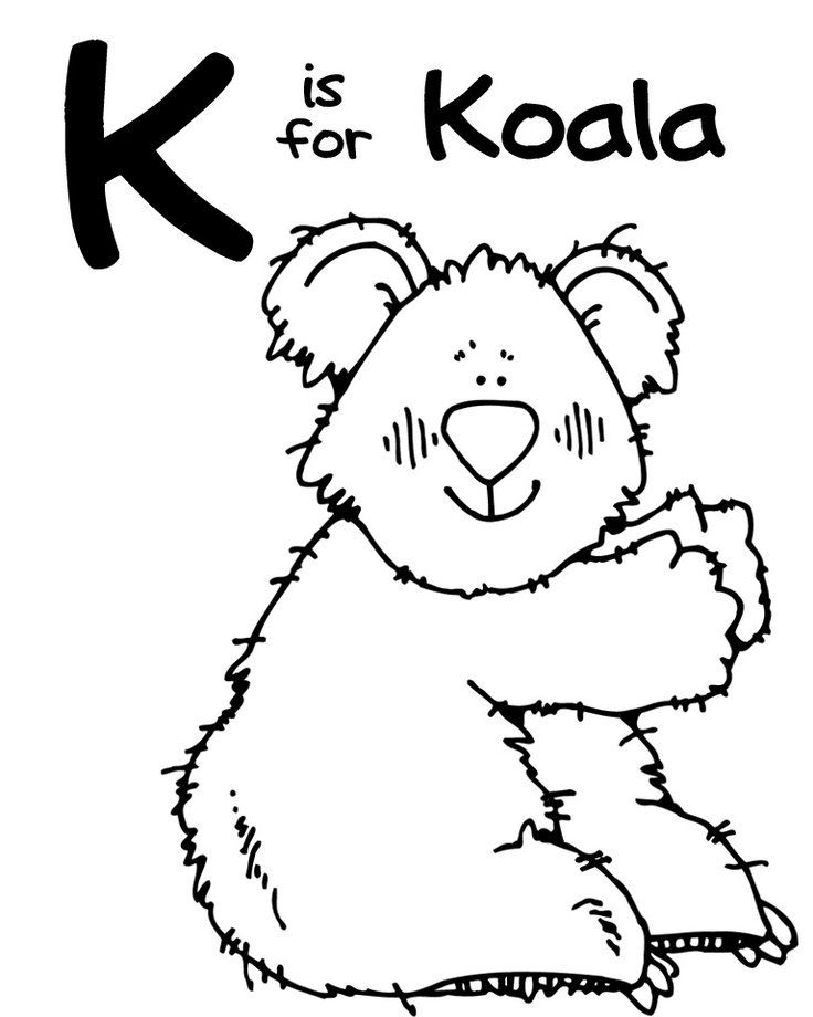 the letter k coloring pages - photo#28