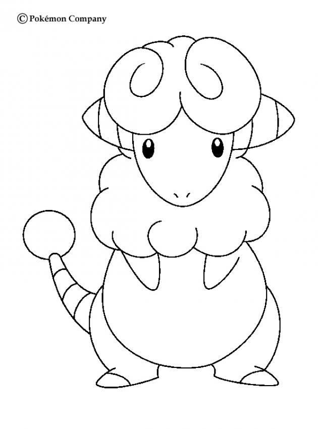 ELECTRIC POKEMON Coloring Pages   Flaaffy