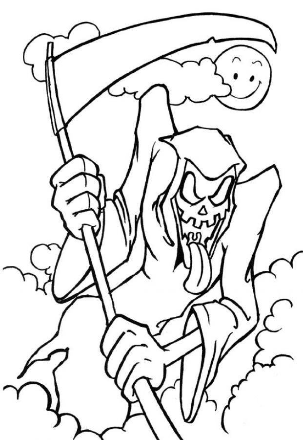 Related Pictures Halloween Coloring Pages To Print Scary Lowrider
