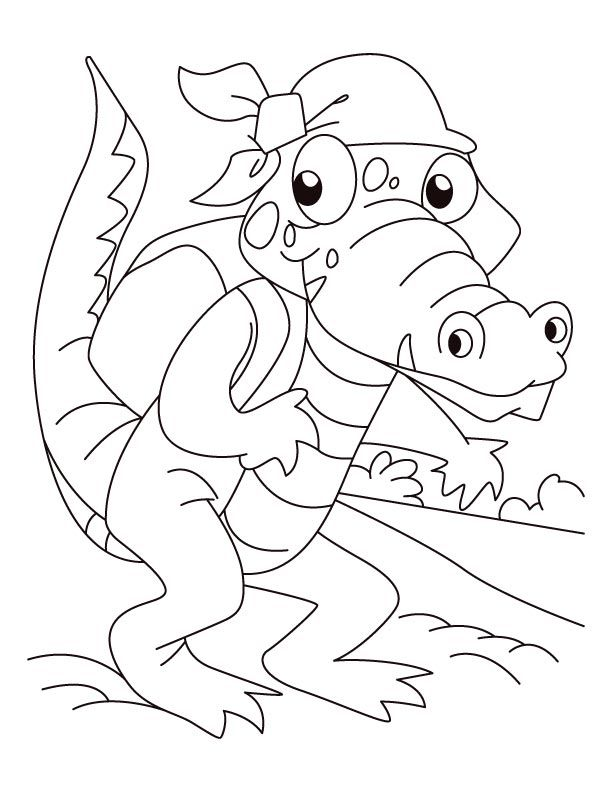 Alligator Coloring Pages Coloring Home
