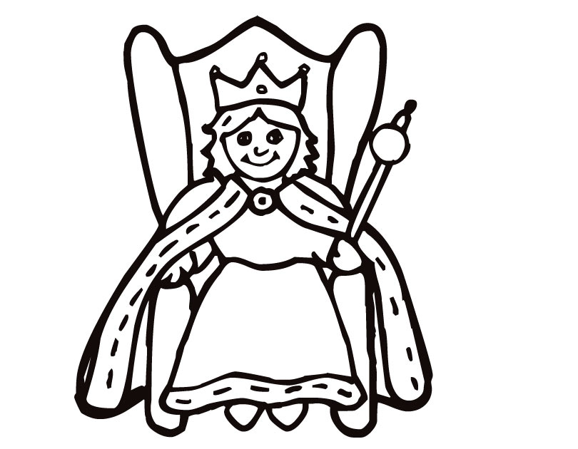 Q Is For Queen Coloring Page Queen jpg